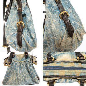 Louis Vuitton Bags - LOUIS VUITTON Distressed Stonewashed Denim Hobo